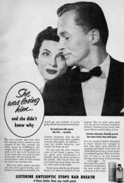 Image result for advertisement in 1920s-1930s - why did he leave her? bad breath